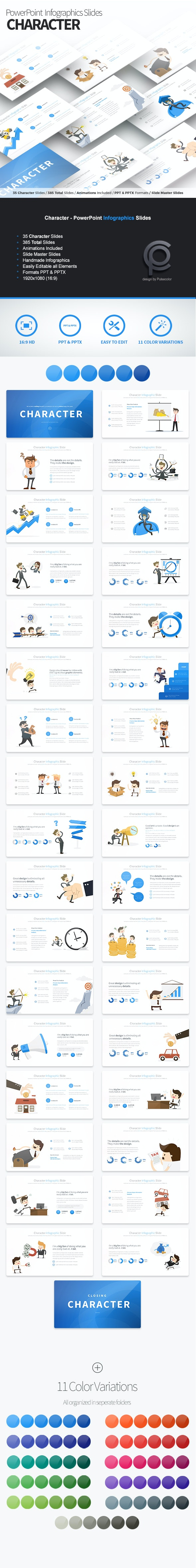 Character - PowerPoint Infographics Slides - Business PowerPoint Templates