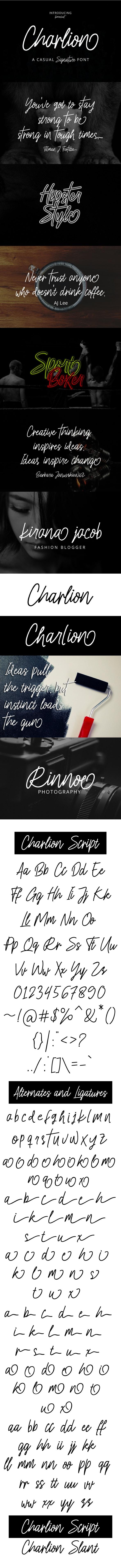 Charlion Script 2 Style - Calligraphy Script