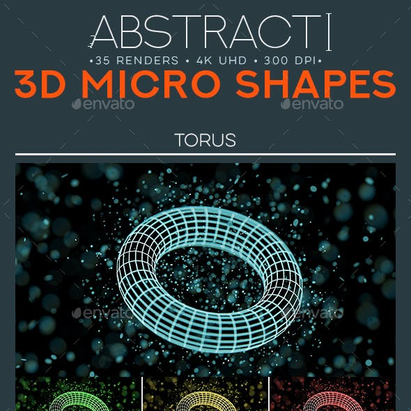 35 3D Microshapes - 4K Abstract Backgrounds