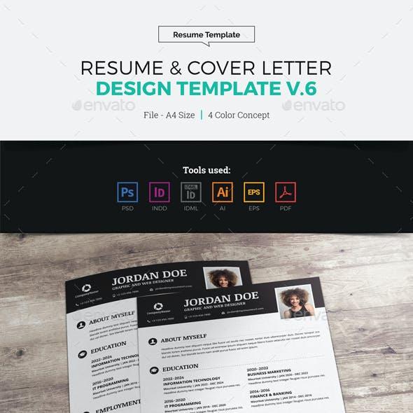 Resume & Cover Letter Design v6