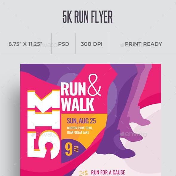 5k Run Flyer and Poster Template