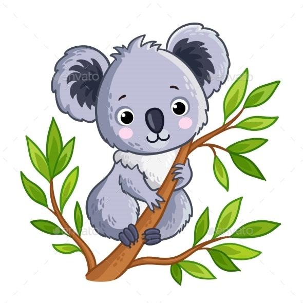 Panda Sitting on a Tree - Animals Characters