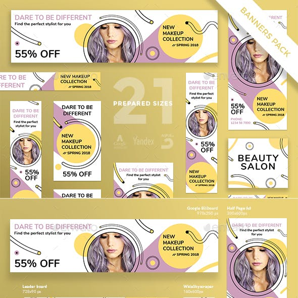 Makeup Collection Banner Pack