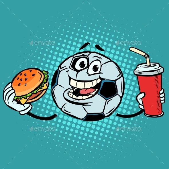 Break the Match. Fast Food Cola and Burger - Man-made Objects Objects