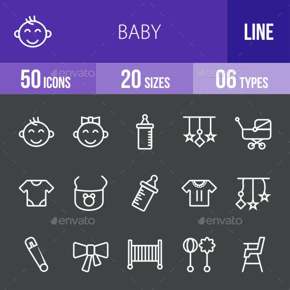 Baby Line Inverted Icons