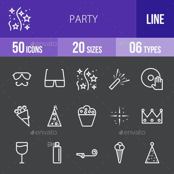 Party Line Inverted Icons