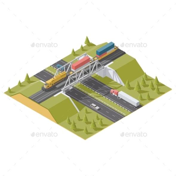 Railway Bridge Over the Road - Miscellaneous Vectors