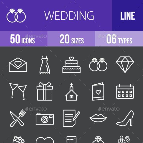 Wedding Line Inverted Icons