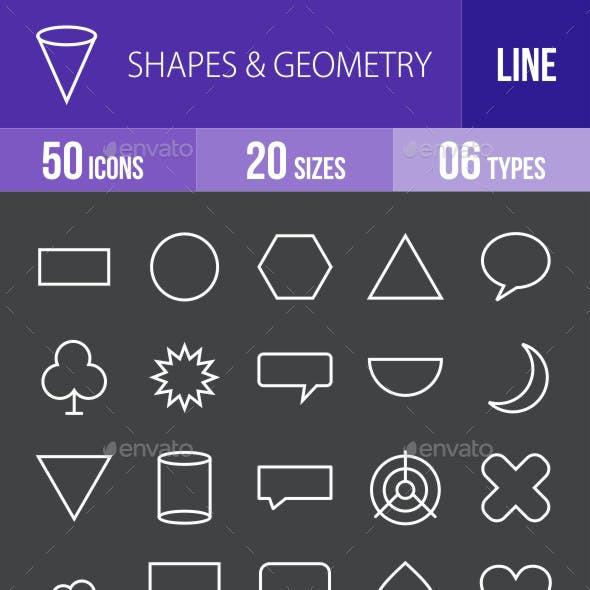 Shapes & Geometry Line Inverted Icons