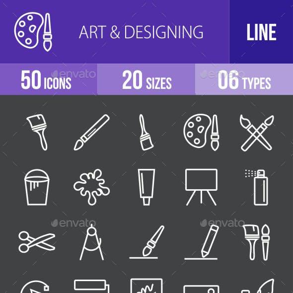 Art & Designing Line Inverted Icons