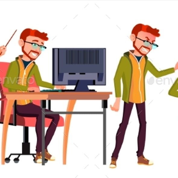 Business Office People Worker Vector