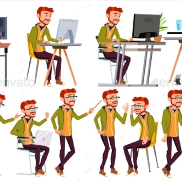Business Person Vector. Man