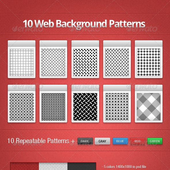 10 Web Background Patterns