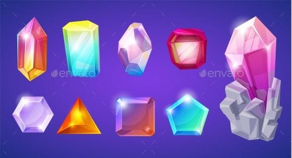 Crystal Stone Vector Crystalline Gem - Abstract Conceptual