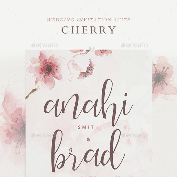 Wedding Invitation Suite - Cherry