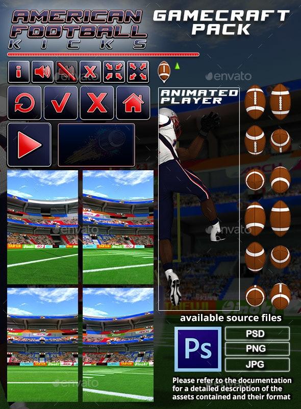 American Football Kicks - Game Assets - Game Assets