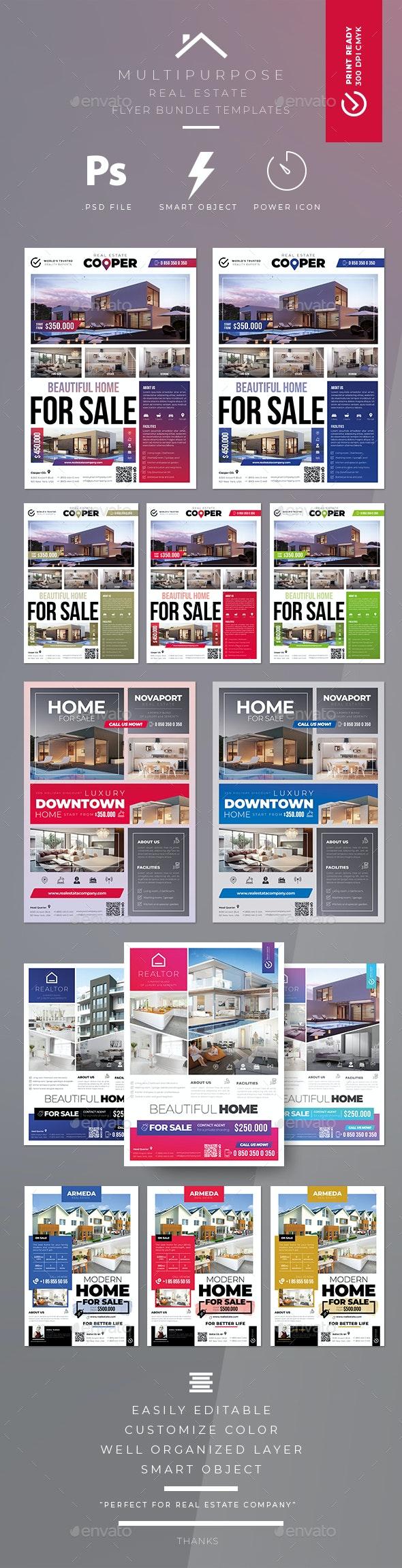 Real Estate Flyer Bundle Templates - Commerce Flyers