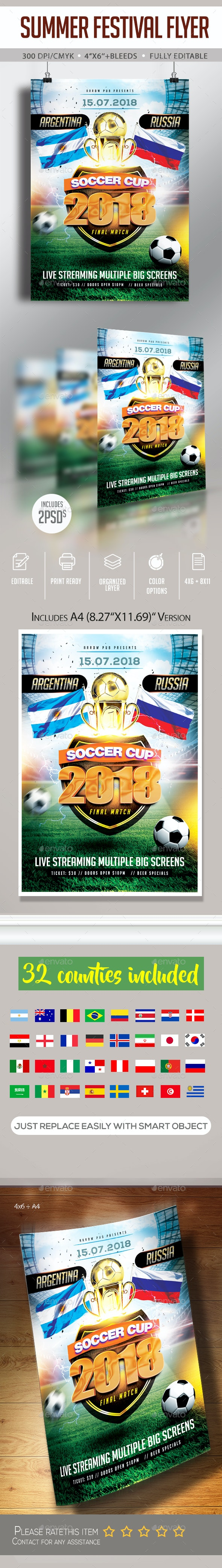 Soccer Cup Flyer - Clubs & Parties Events