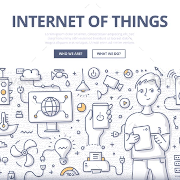 Internet of Things Doodle Concept