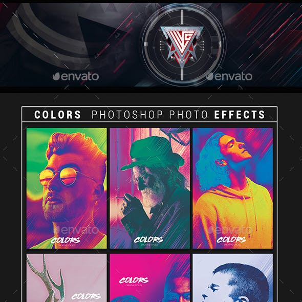 Photoshop Color Effects Template
