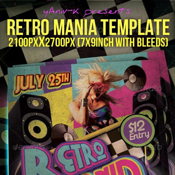 Retro Mania Flyer Template