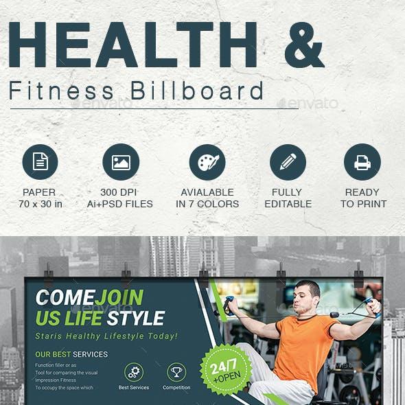 Health & Fitness Billboard