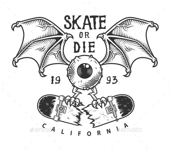 Vintage Skateboarding Logotype - Miscellaneous Vectors