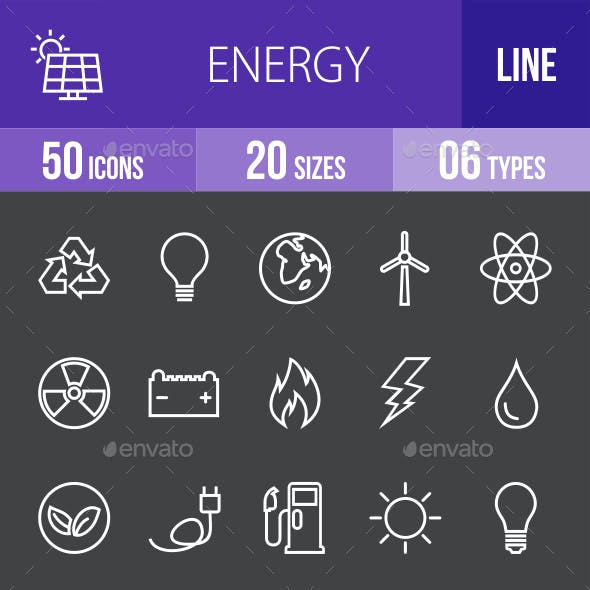 Energy Line Inverted Icons