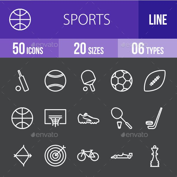 Sports Line Inverted Icons