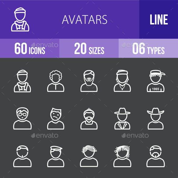 Avatars Line Inverted Icons