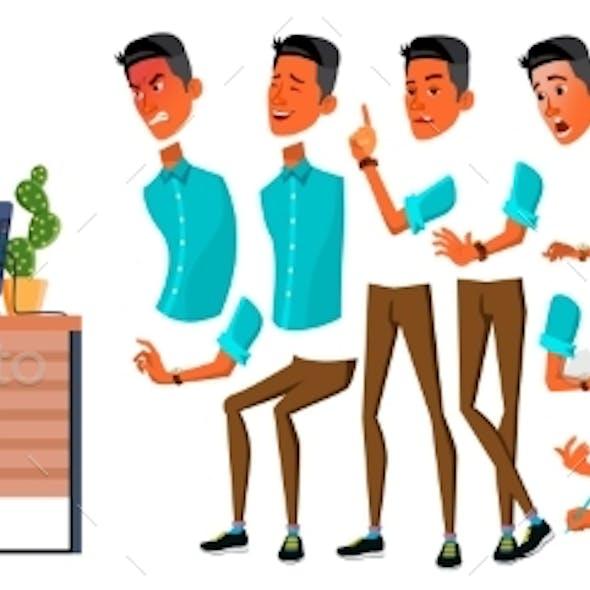 Businessman Office Worker Vector. Animation