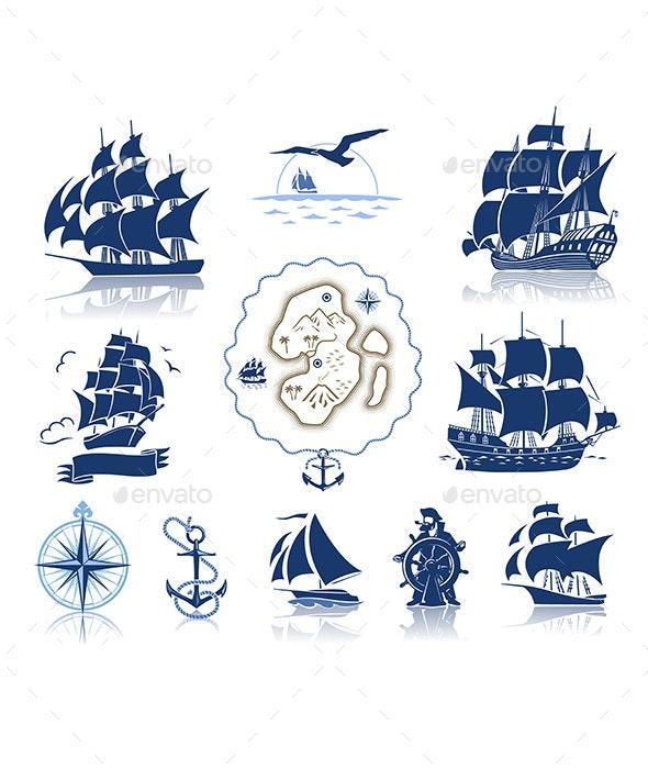 Sailing Ships - Travel Conceptual