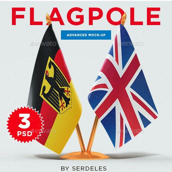 Table Flag Mockup