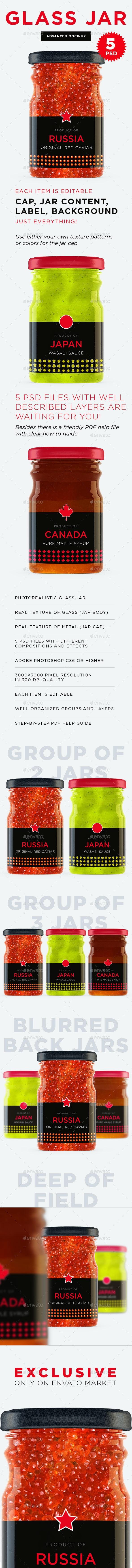 Glass Jar Mockup - Food and Drink Packaging