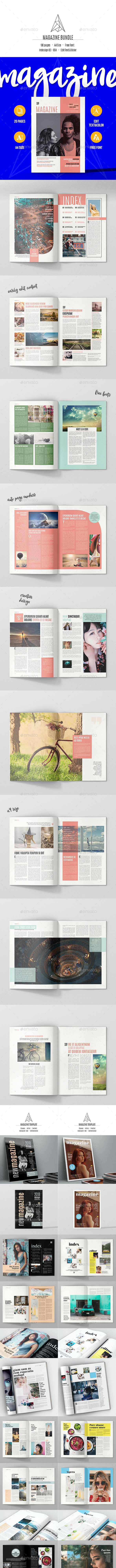 Magazine Bundle 100 Pages - Magazines Print Templates