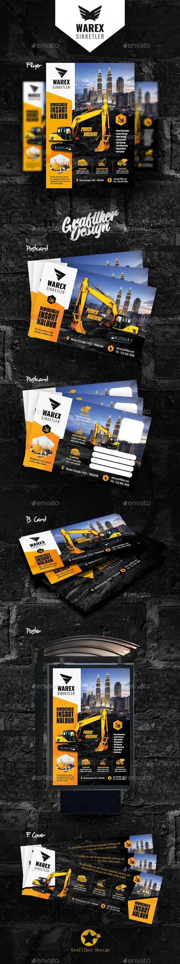 Construction Bundle Templates - Corporate Flyers