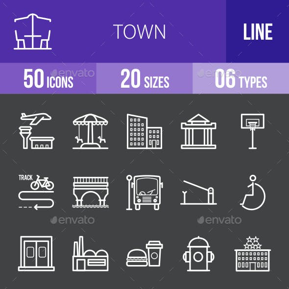 Town Line Inverted Icons