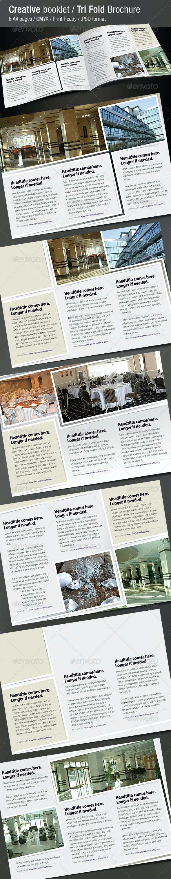 Creative Booklet / Tri Fold Brochure - Corporate Brochures