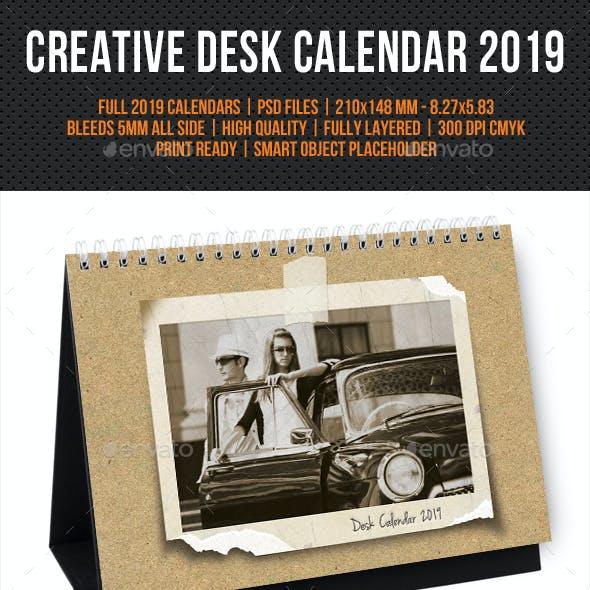 Creative Desk Calendar 2019 V31