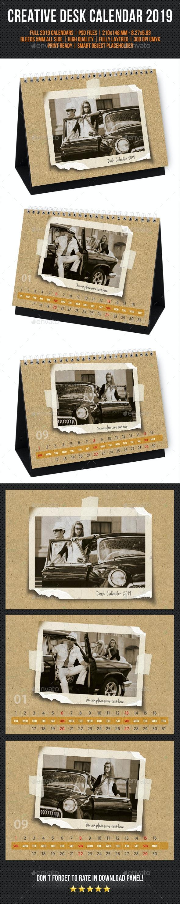 Creative Desk Calendar 2019 V31 - Calendars Stationery