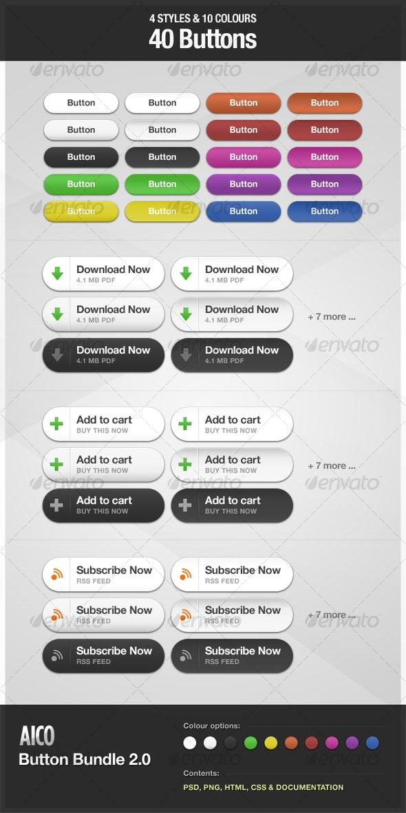 AICO Button Bundle 2.0 - Buttons Web Elements