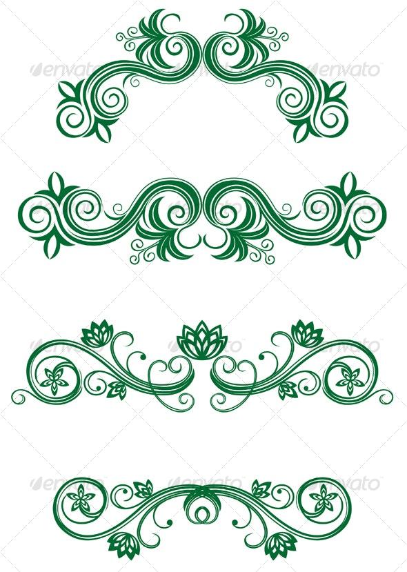 Vintage floral decorations - Decorative Vectors