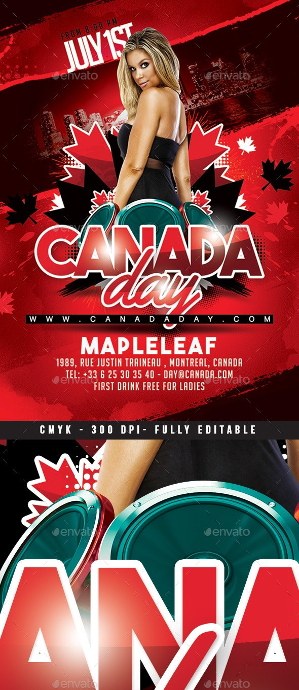 Canada Day Party - Events Flyers