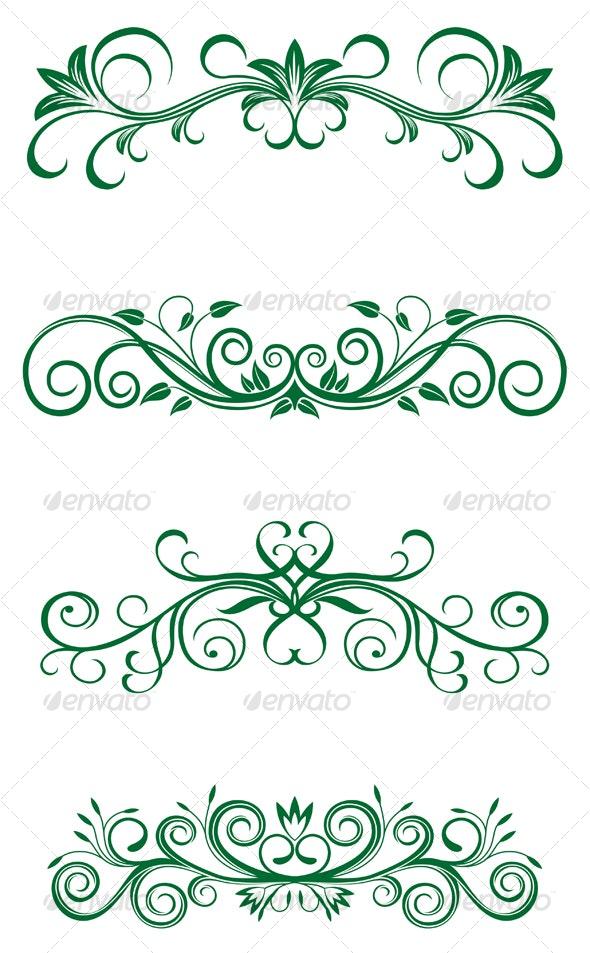 Vintage floral decorations - Flourishes / Swirls Decorative