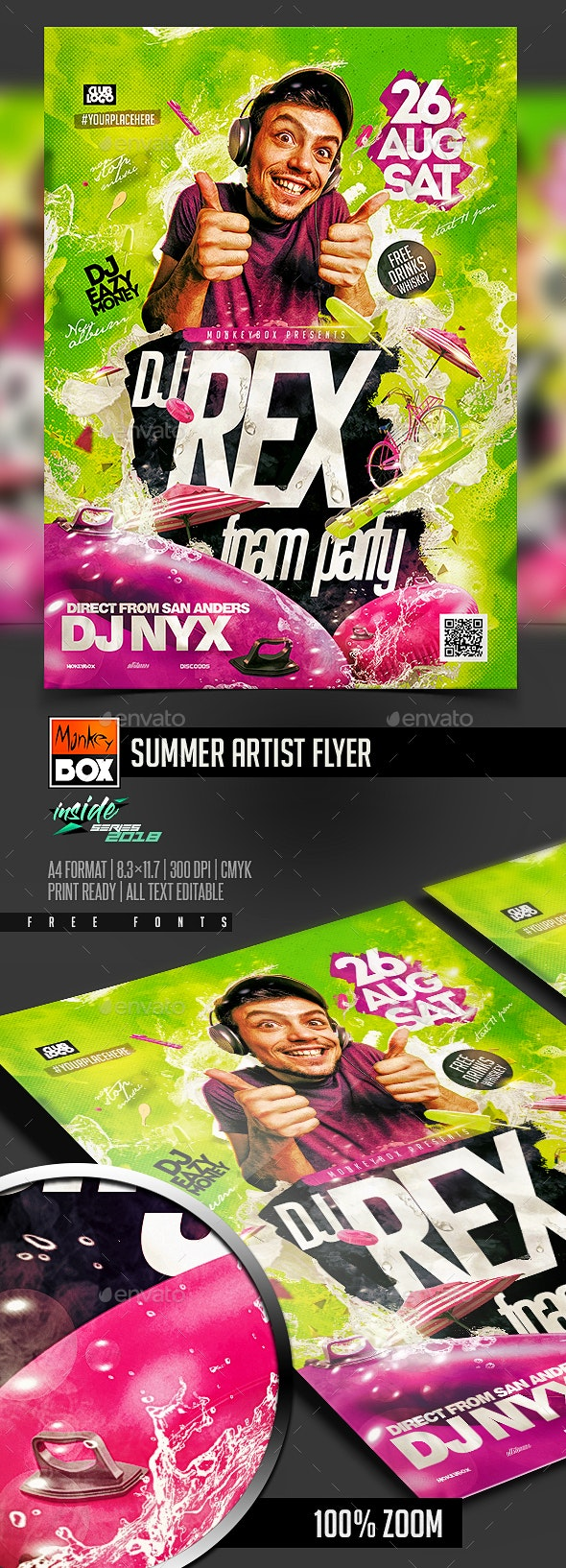 Summer Artist Flyer - Flyers Print Templates