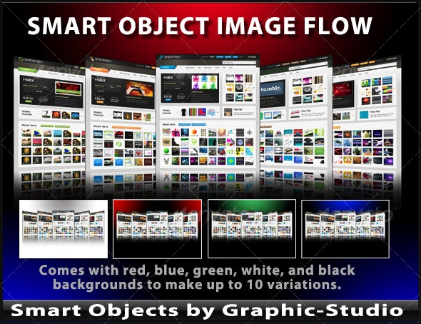 Smart Object Image Flow Template - Web Elements