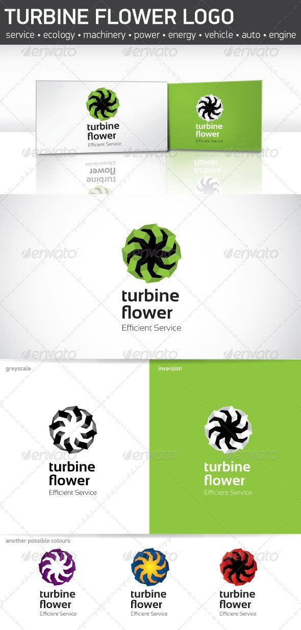 Turbine Flower logo - Objects Logo Templates