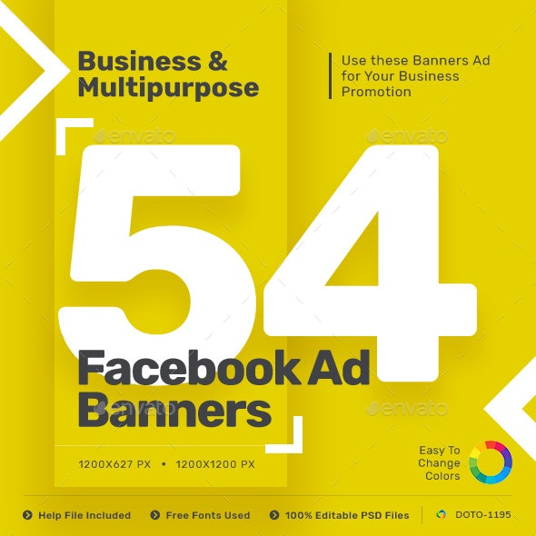 Facebook Ad Banners - 27 Designs - Updated! - Banners & Ads Web Elements