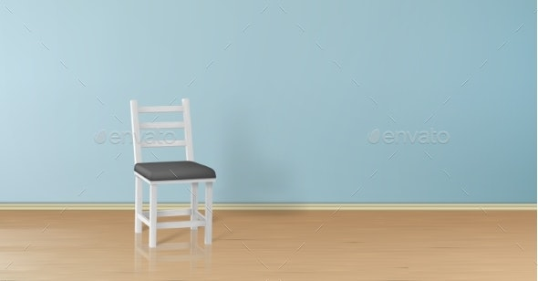 Vector Realistic Mock-Up with Chair Background - Backgrounds Decorative