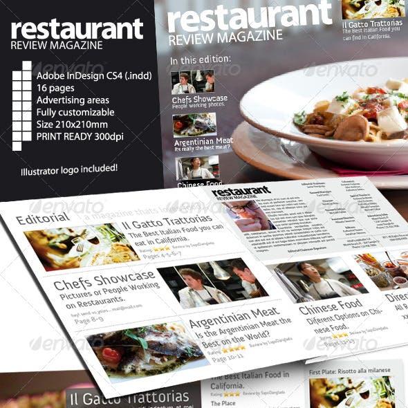 Restaurant Review Magazine Indesign CS4